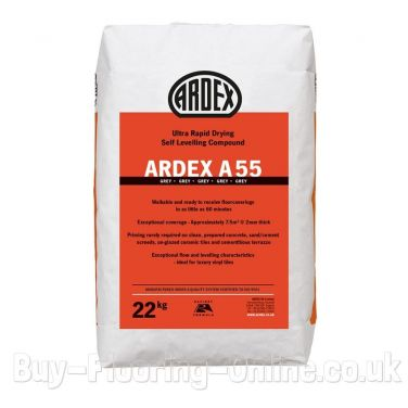 Ardex - A55 (22kg) Ultra Rapid Hardening and Drying Smoothing and Levelling Compound