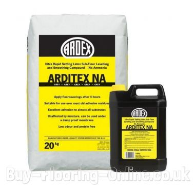 Ardex - Arditex NA Powder & Latex (24.5kg) Ultra Rapid Setting Latex Subfloor Levelling and Smoothing Compound