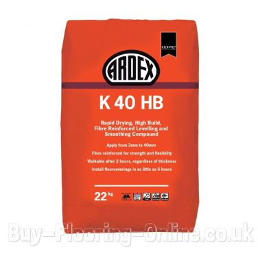 Ardex - K40 HB (22kg) Rapid Drying, High Build, Fibre Reinforced Levelling and Smoothing Compound