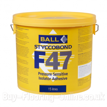 F BALL - F47 (15LTR) Pressure Sensitive Adhesive for use with Isolator Membrane