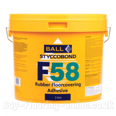 F Ball - F58 (5ltr) Styccobond Rubber Floorcovering Adhesive