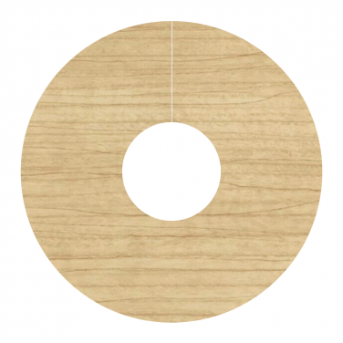 Self Adhesive Pipe Covers / Radiator Ringsfor Laminate & Wood Floors- 2 Pack Light Varnished Maple (FC12)