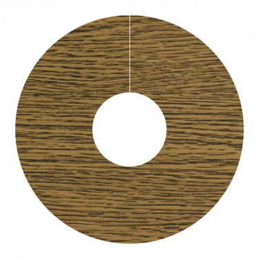 Self Adhesive Pipe Covers / Radiator Ringsfor Laminate & Wood Floors- 2 Pack Antique Chestnut (FC25)