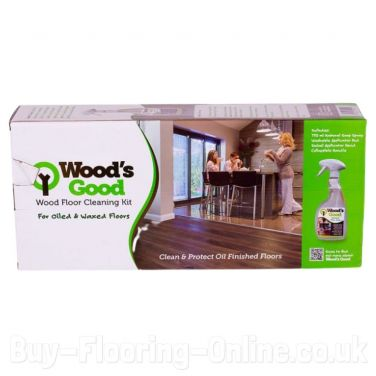 Wood's Good Wood Flooring Cleaning Kit (Oiled & Waxed)