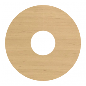 Self Adhesive Pipe Covers / Radiator Ringsfor Laminate & Wood Floors- Chinese Maple (FC26)